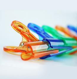 彩色塑料夾筒裝2050