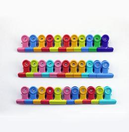 彩色圓形鐵夾盒裝1063